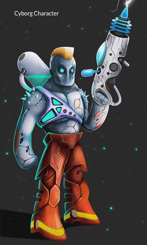 Cyborg Character